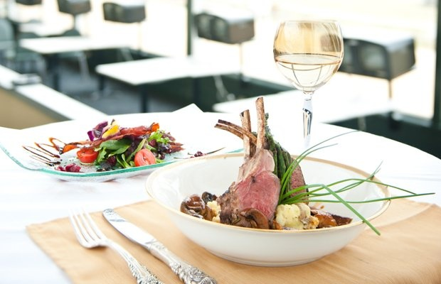 Grilled Double-Cut Lamb Chops with Wild Mushroom Ragu, Smashed Yukon ...