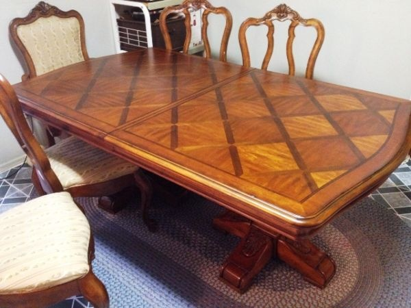 Dining table ethan allen dining table craigslist for Dining room tables craigslist