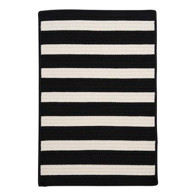 Stripe It Black White Indoor Outdoor Rug