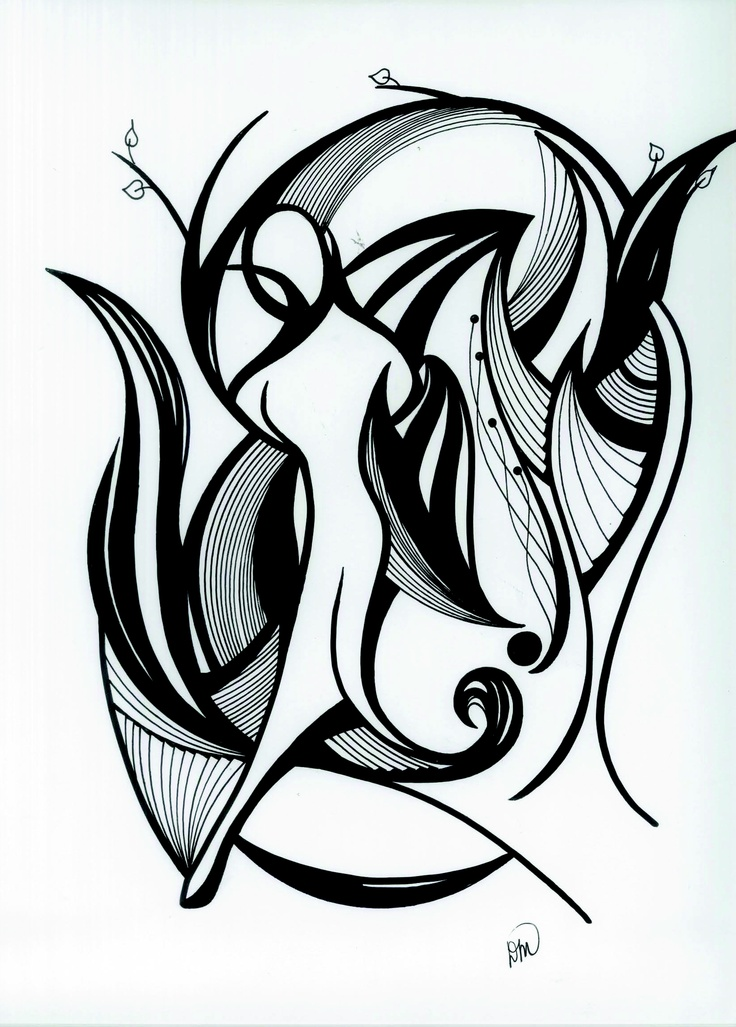 Pen and ink abstract drawing my style friends moments for Modern drawing styles