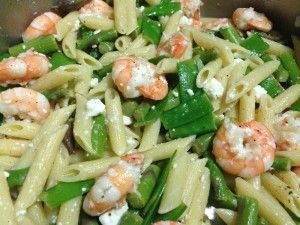 Penne with Shrimp, Feta and Spring Vegetables - www.everydaybanquet ...