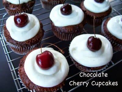 Chocolate Cherry Cupcakes | Sweets | Pinterest