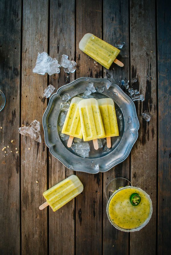 Pineapple Margarita Ice Pops | Ice ice baby... | Pinterest
