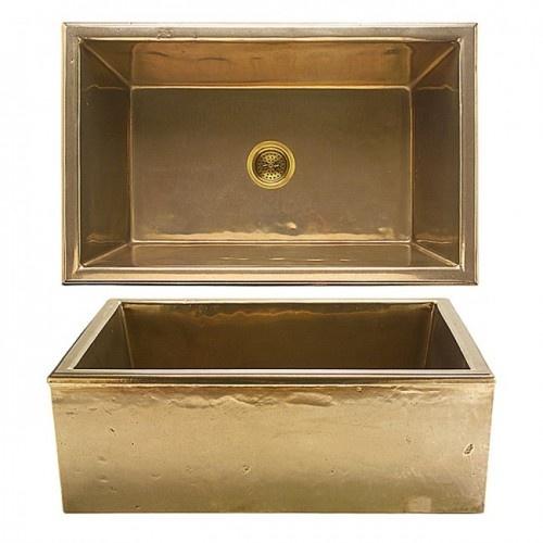 Brass Sink : Silicon bronze light patina apron sinks Sinks Pinterest