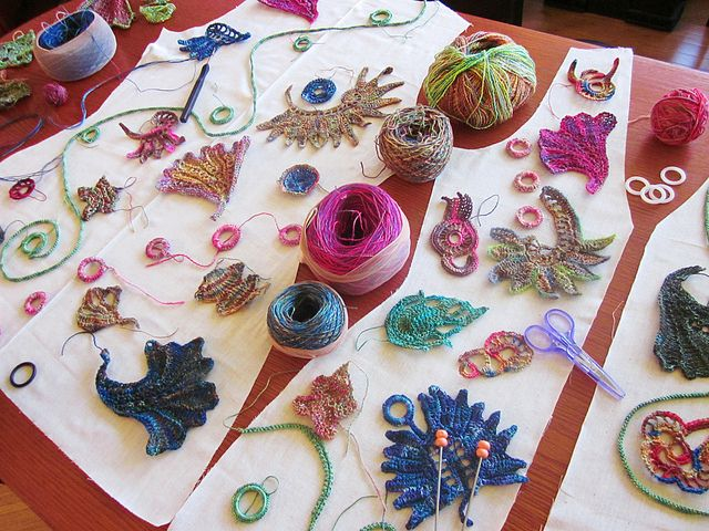 beats earphones  Roxy Baldrey on crochet and knitting