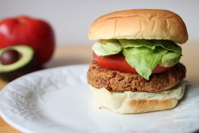 easy pinto bean burgers; I made mine in a skillet, turned out much ...