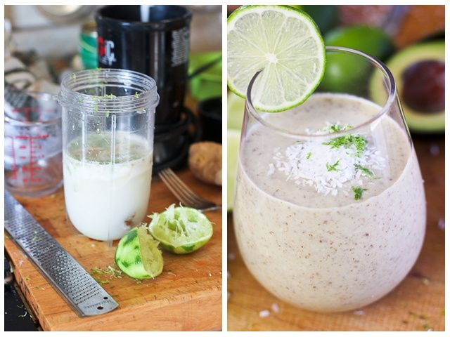 Lime, Ginger and Coconut Smoothie | Recipe