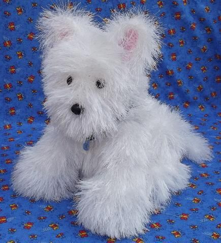 Knitting Pattern For Westie Dog : Pin by Krystie Huebert on knitted toys Pinterest