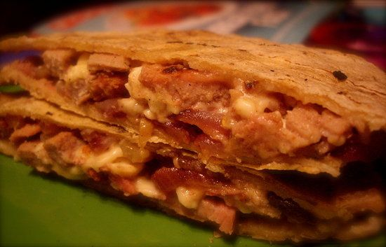 Cubano Quesadillas. New twist on the Cuban Sandwich.