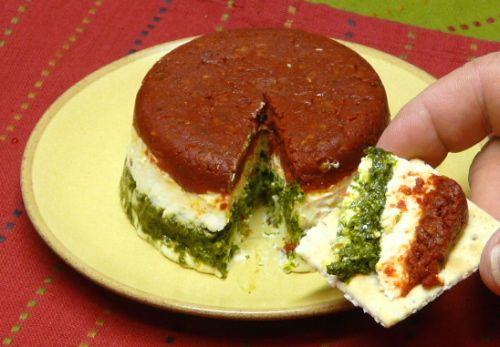Basil Pesto & Sun Dried Tomato Torta
