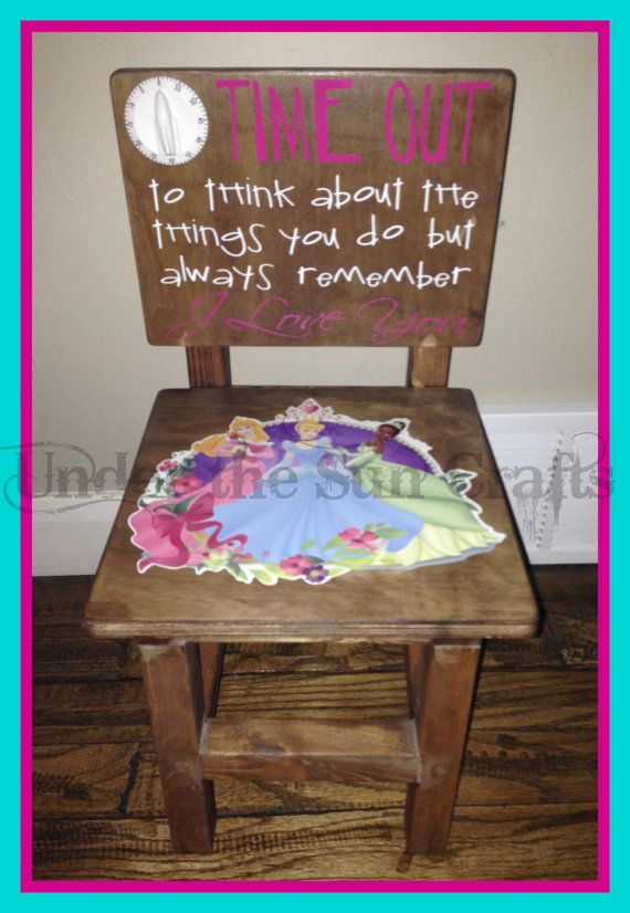 Solid wood princess time out chair