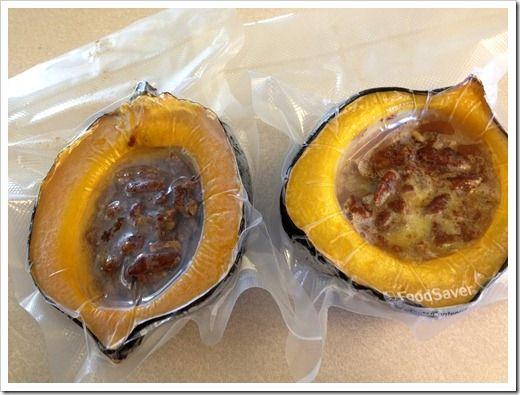 Acorn Squash Halves with Orange Pecans | Recipe