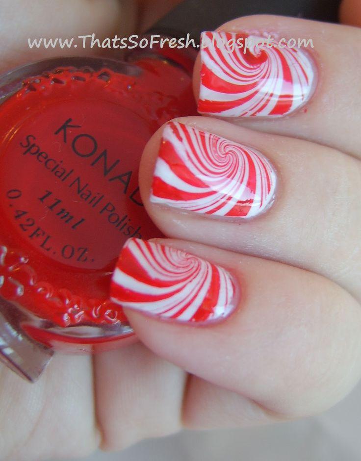 Candy cane nail art sharp nails pinterest