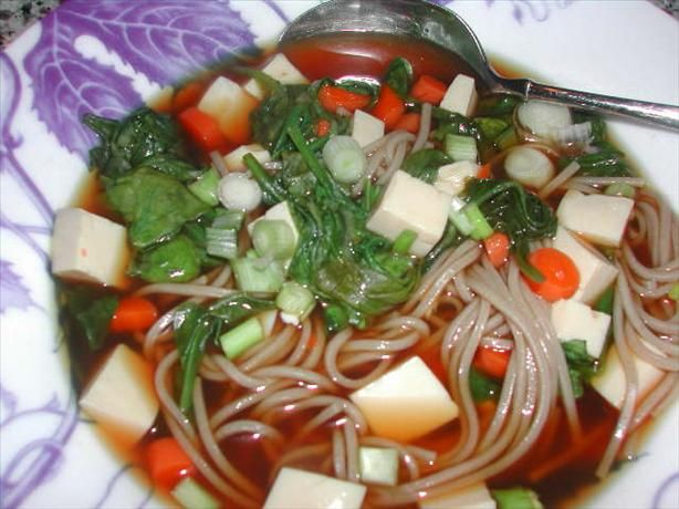 ... yummly soba noodle soup with spinach and smoked trout recept yummly