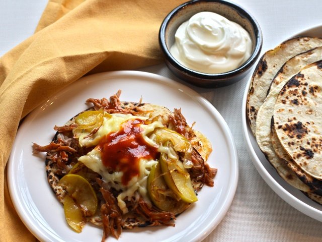 Citrus-Marinated Pulled Pork Tacos with Sauteed Apples, Onions and ...