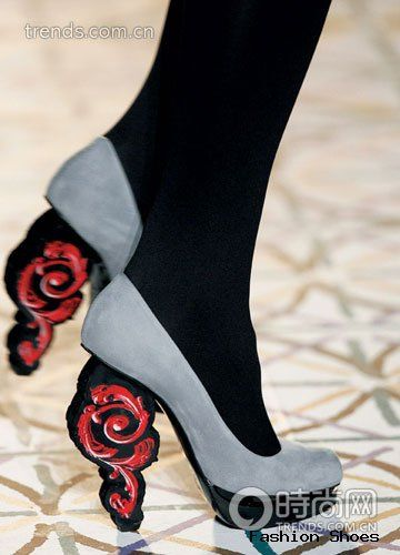 strange shoe heel design