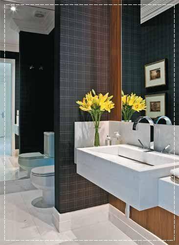 Papel de parede, decoração de banheiro, banheiro decorado, papel de parede no banheiro, bathroom decor, bathroom wallpaper