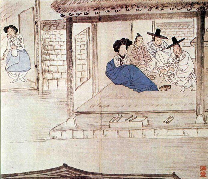 Korean Traditional art by Shin Yun-bok | Oriental Painting ...