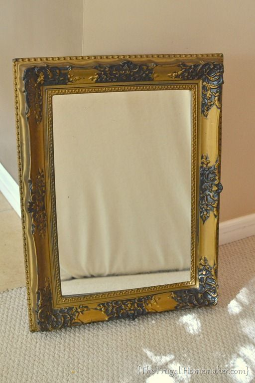 how to spray paint a mirror frame great ideas pinterest. Black Bedroom Furniture Sets. Home Design Ideas