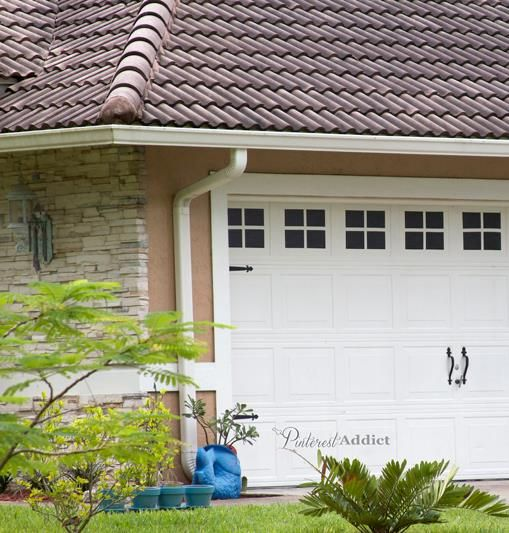 Create a faux carriage garage door and pump up your curb for Faux carriage garage door