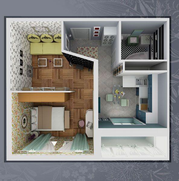 Однокомнатная квартира п44т дизайн фото