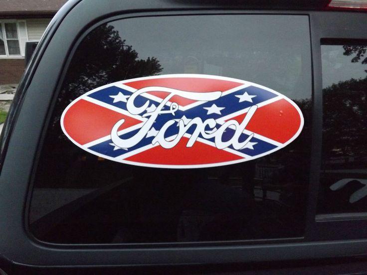 rebel flag sticker decal
