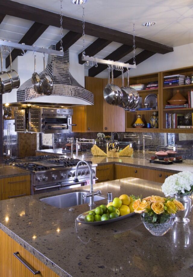Luxury chef kitchen for the home pinterest for Chef kitchen designs
