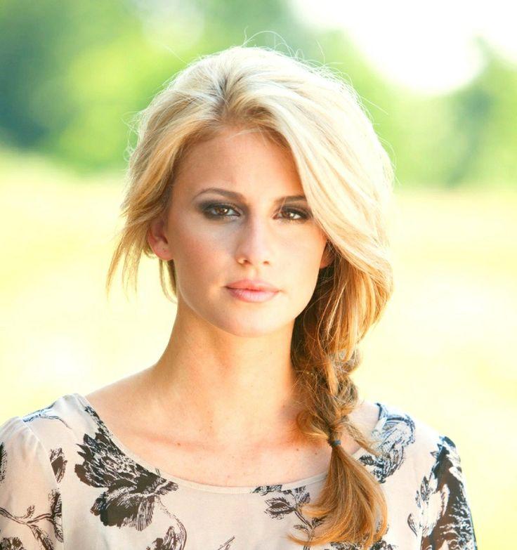 Side Braid Hair Look Blonde Hair Fashion Pinterest
