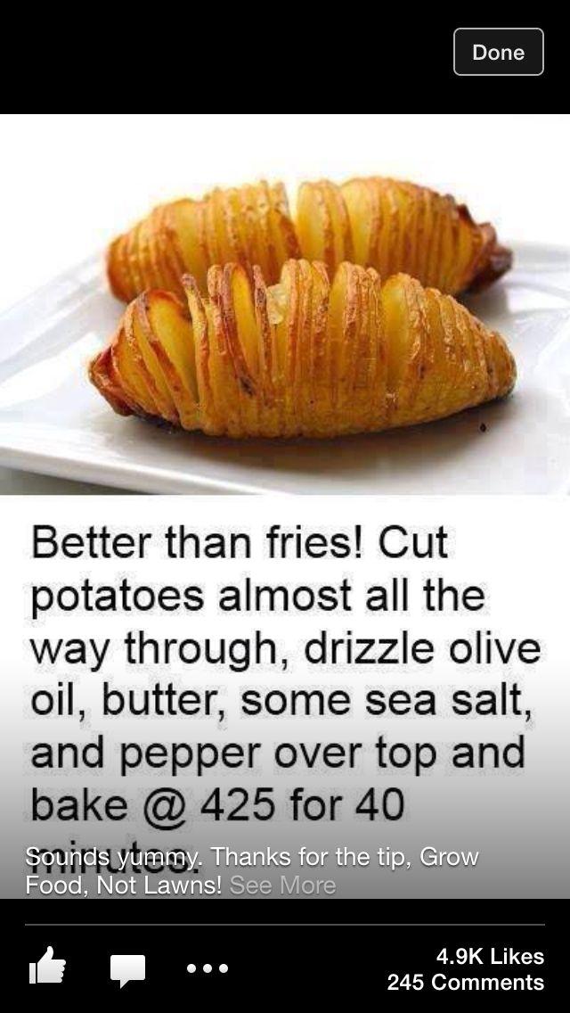 Easy potatoes | Good Eats! | Pinterest