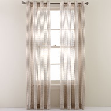 rizzo grommet top sheer curtain panel jcpenney 50 wide by 84 quot