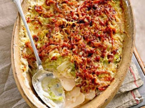 Potato and Cabbage Gratin: Recipe | Let's talk FOOD | Pinterest