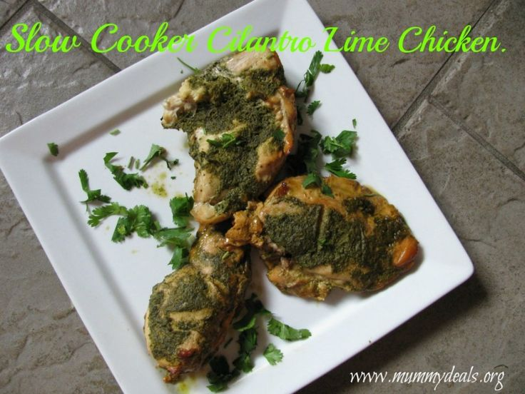 Slow Cooker Cilantro Lime Chicken made from a clean eating dressing ...