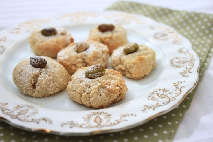 Our simple Pistachio, cardamom and almond macaroons. Go on, give them ...