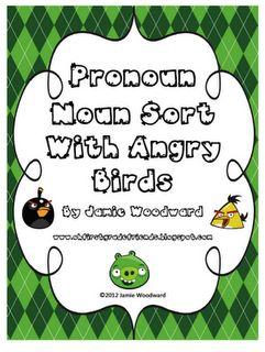 Free Angry Bird Noun/Pronoun Sort