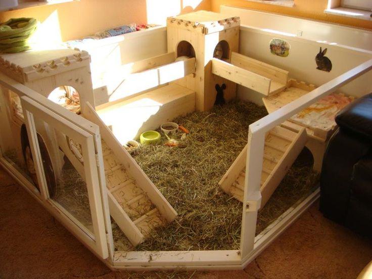 Как сделать дом для кроликов