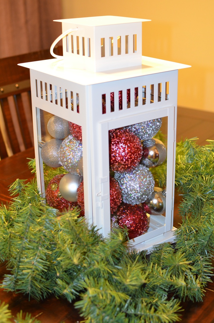 Christmas lantern centerpiece it s begining to look a