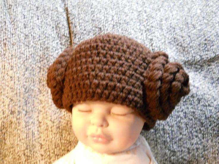 Princess Leia hand crocheted hat Craft Ideas Pinterest