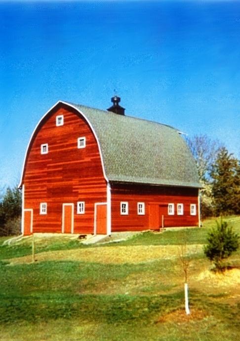 Red Barn Black Cupola Barns Pinterest
