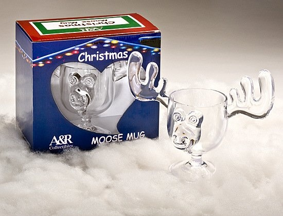 Christmas Eggnog Moose Mugs (SET OF TWO MUGS)