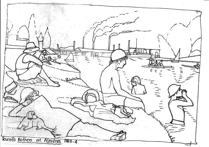 Seurat pages coloring pages for Seurat coloring pages