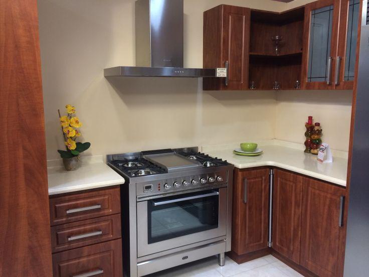 Cocina termoformada en PVC , color caoba  Cocinas Fabricadas por Tan