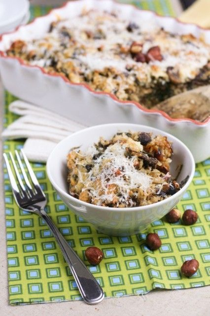 Mushroom Spinach and Brown Rice Casserole : The Healthy Foodie