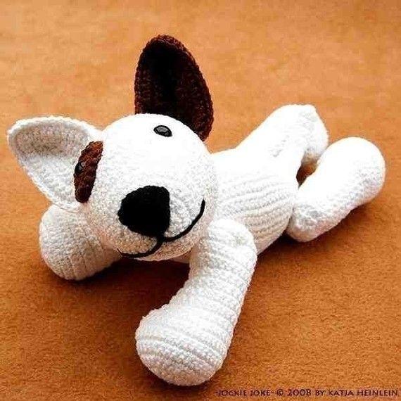 Amigurumi Patterns Dog : amigurumi dog bull terrier Jokie Joke, PDF crochet pattern
