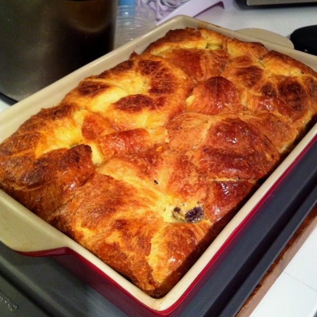 Croissant And Armagnac Bread Pudding Recipe — Dishmaps