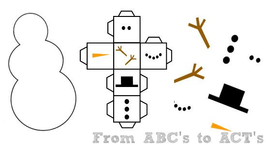 Roll-a-Snowman via FromABCstoActs.com