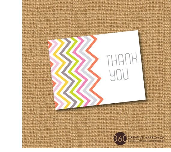 mikasa outlet locations Personalized Chevron Thank You Cards or Stationery