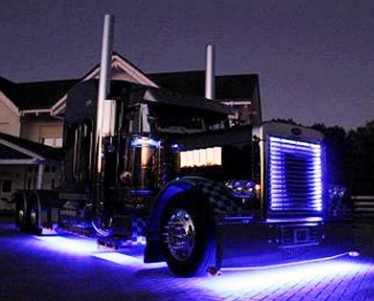 Peterbilt Lights Trucks Pinterest