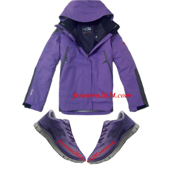 Purple North Face And Purple Nike Free Run 3 by fashionexplorer-222