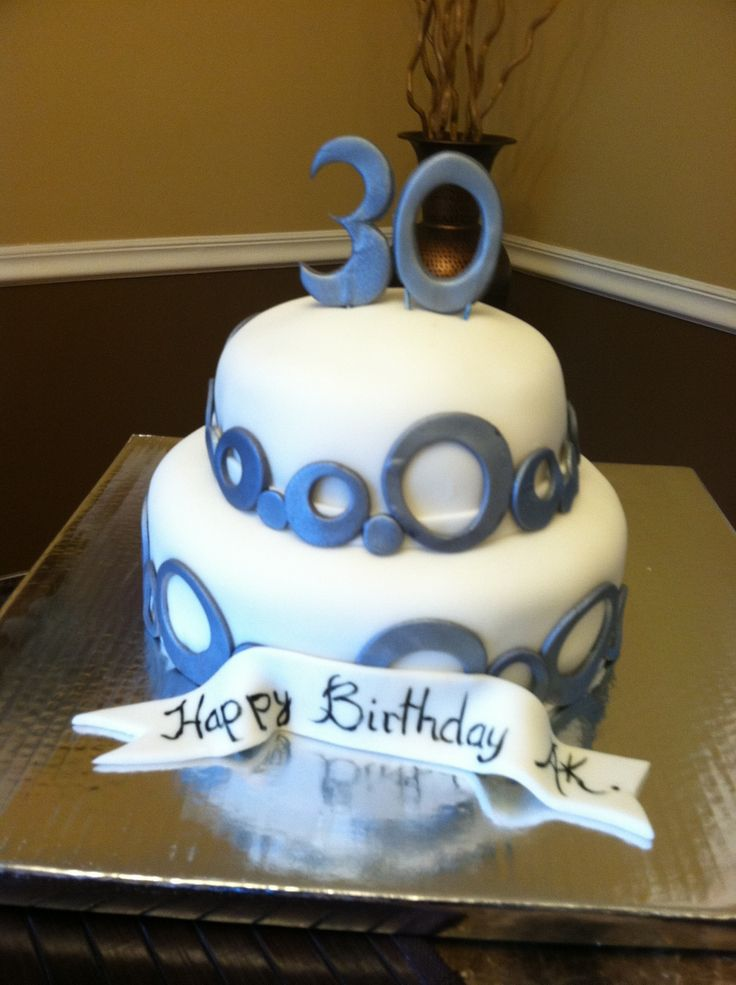30th birthday cake for male andy birthday ideas pinterest for Adult birthday cake decoration