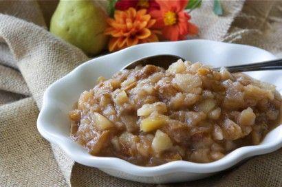 Crockpot Pear & Ginger Applesauce | Recipe